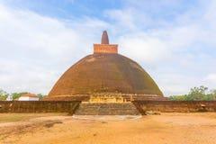Anuradhapura Abhayagiri Dagoba kroków brudu pole H Obraz Stock