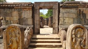 Ruins of royal ancient city Polonnaruwa, Sri Lanka royalty free stock photo