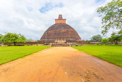 Anuradhapura Jetavanaramaya Dagoba brudu ścieżka H Obrazy Royalty Free