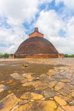 Anuradhapura Jetavanaramaya Dagoba Centrowany niebo Fotografia Stock