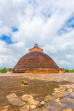 Anuradhapura Jetavanaramaya Stupa Centered Corner Royalty Free Stock Photos