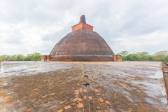 Anuradhapura Jetavanaramaya Stupa Wet Centered H Royalty Free Stock Photography