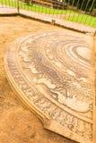 Anuradhapura Mahasen Palace Moonstone Carving Stock Images