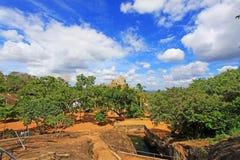 Anuradhapura Mihintale Aradhana Gala, παγκόσμια κληρονομιά της ΟΥΝΕΣΚΟ της Σρι Λάνκα Στοκ φωτογραφία με δικαίωμα ελεύθερης χρήσης