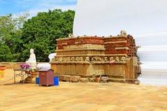 Anuradhapura Mirisawatiya Stupa, всемирное наследие ЮНЕСКО Шри-Ланки Стоковое Изображение