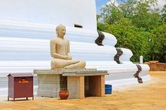 Anuradhapura Mirisawatiya Stupa, arv för Sri Lanka UNESCOvärld Arkivfoton