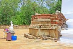 Anuradhapura Mirisawatiya Stupa, patrimonio mondiale dell'Unesco dello Sri Lanka Fotografie Stock Libere da Diritti