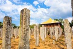 Anuradhapura pałac kamienia Bezczelni filary Wędkowali H Zdjęcia Royalty Free