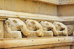 Anuradhapura Ruwanwelisaya Stupa`s Elephant Statue, Sri Lanka UNESCO World Heritage Royalty Free Stock Photography