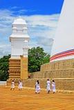 Anuradhapura Ruwanwelisaya Stupa, Sri Lanka UNESCO World Heritage Stock Image