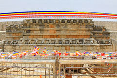 Anuradhapura Ruwanwelisaya Stupa, Sri Lanka UNESCO World Heritage Stock Photos