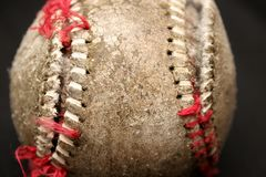 Använd baseball royaltyfri foto