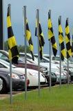 använd bilförsäljning Arkivbild