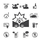 Använd inte din telefon, medan köra stock illustrationer