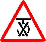 Använd inte krokar som förpackar symbol Använd inte, medan sätta in asken Rött tecken för förbudvarningssymbol på vit Arkivbild