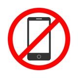 Använd inte telefonen royaltyfri illustrationer