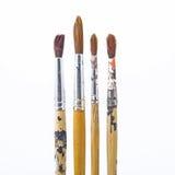 använd paintbrush arkivbild