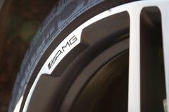 Använd ställning för Mercedes-Benz S-grupp S350 lång (W221) bil på en stree Royaltyfri Foto