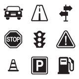 använd stordia för trafik för 10 eps-mappsymboler Royaltyfri Bild