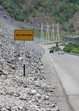 Använd trafiktecken för det låga kugghjulet Royaltyfria Foton