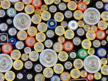 använda batterier Arkivbild