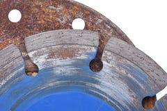 Använda bitande disketter för diamant som isoleras på vit bakgrund Royaltyfria Bilder