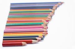 Använda blyertspennor Royaltyfri Foto