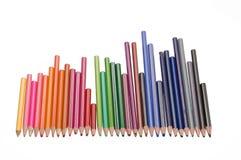 Använda blyertspennor Royaltyfria Bilder