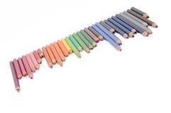 Använda blyertspennor Arkivbild