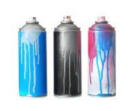 Använda cans av sprutmålningsfärg fotografering för bildbyråer