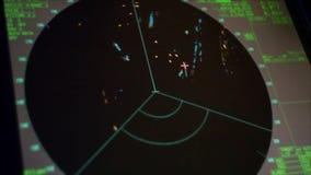 Använda den marin- radar och det ARPA systemet lager videofilmer