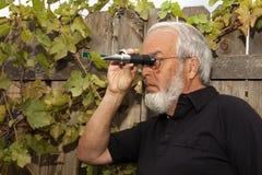 Använda en Refractometer Fotografering för Bildbyråer