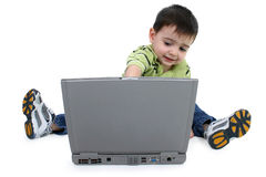 använda för bana för pojkeclippingbärbar dator fotografering för bildbyråer