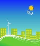 använda för clean energi för stad vektor illustrationer