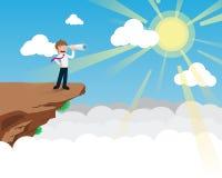 Använda för lönmanblick kikare stock illustrationer