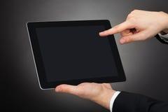 använda för tablet för affärsman digitalt Royaltyfri Fotografi
