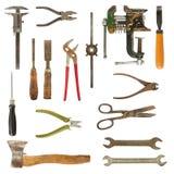 använda gammala hjälpmedel för samling Fotografering för Bildbyråer