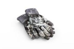 använda handskar Arkivbild