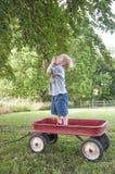 Använda hans vagn för bär Arkivbilder