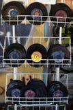 Använda rekordvinylsinglar Royaltyfri Fotografi