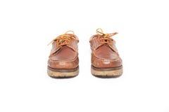 Använda skor Fotografering för Bildbyråer
