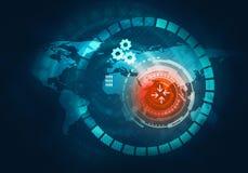 Användare för handlag för affärsteknologi futuristisk blå faktisk grafisk I Fotografering för Bildbyråer