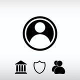 Användaresymbol, vektorillustration Sänka designstil Royaltyfri Fotografi