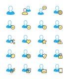 Användarewebsitesymbol, monokrom färg - vektorillustration Arkivfoton