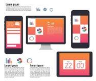 Användargränssnitt på digitala apparater, minnestavla, mobil, PCdator Royaltyfri Foto