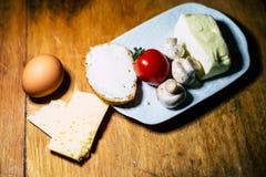 Användbara frukostprodukter royaltyfria bilder
