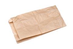 använt brunt gjort papper för påse Arkivfoton