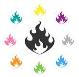 använt ingrepp för flammalutningillustration Arkivfoto