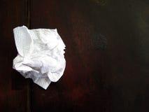 använt paper silkespapper Arkivfoto