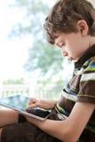 använda för barnPCtablet Arkivfoton